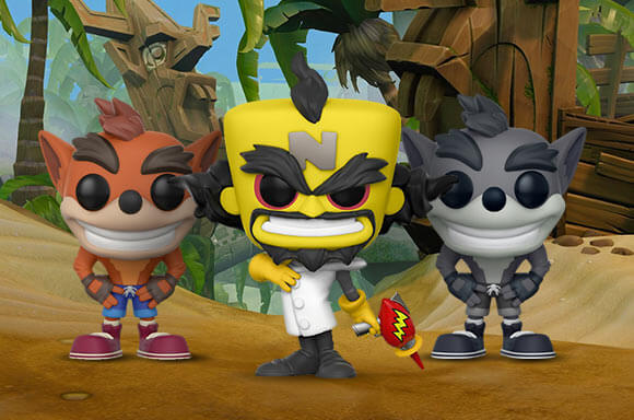 Crash Bandicoot Funko Pops