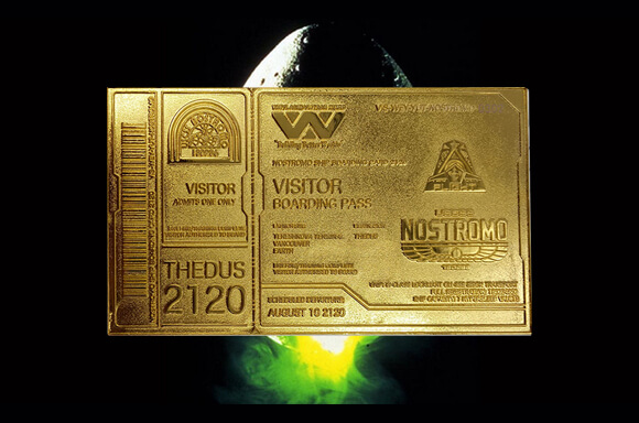 Alien 24K Gold Plated Boarding Ticket!