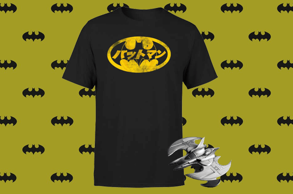 FREE T-SHIRT WITH BATWING METAL REPLICA