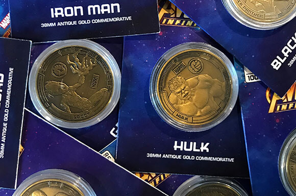 MARVEL AVENGERS GOLD COLLECTOR'S COINS