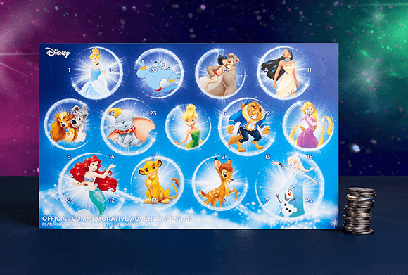 DISNEY COLLECTABLE COIN ADVENT CALENDAR