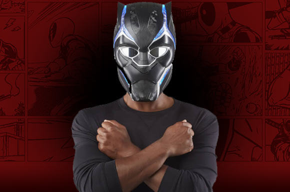 HASBRO MARVEL LEGENDS SERIES BLACK PANTHER 1:1 SCALE WEARABLE HELMET