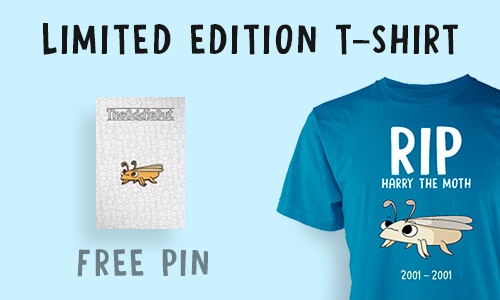 LIMITED EDITION T-SHIRT + PIN