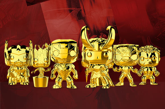 10TH ANNIVERSARY GOLD CHROME FIGURES