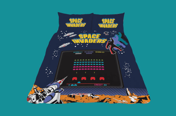 OFFICIAL SPACE INVADERS DUVET