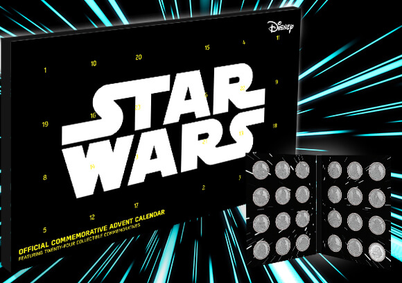 STAR WARS<BR>COLLECTION COIN ADVENT CALENDAR