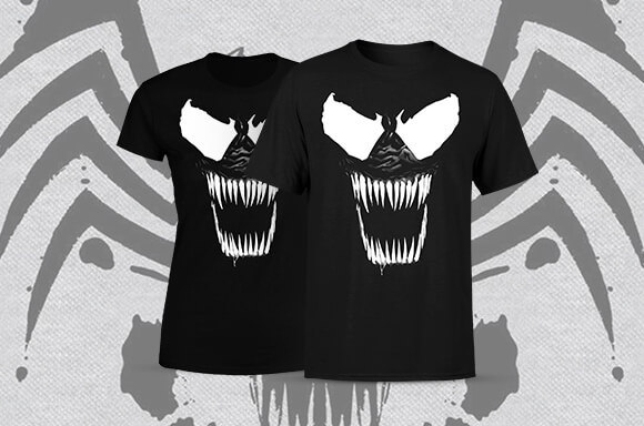 TEE OF THE WEEK - VENOM<BR>$14.99 + FREE SHIPPING