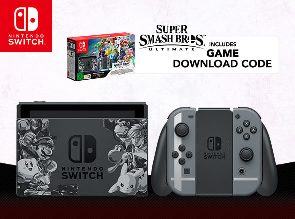 <b>Nintendo Switch Super Smash Bros. Ultimate Edition Console Packs</b>
