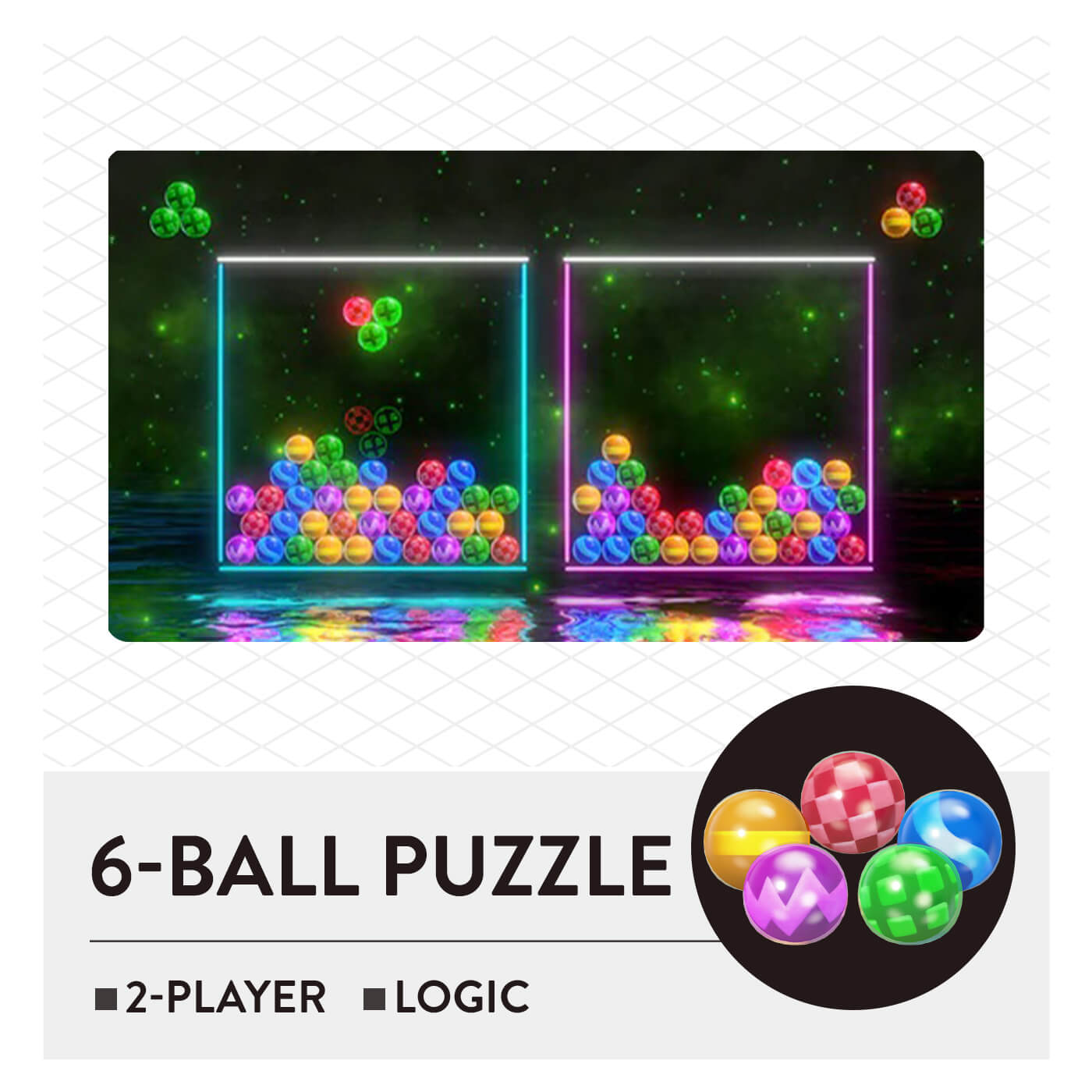 51 Worldwide Games - 6-Ball Puzzle