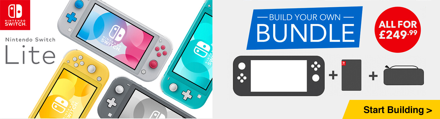 Build your own Nintendo Switch Lite bundle for only £249.99 - Console + Game + Accessory