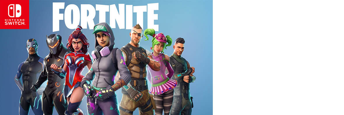 <span style='font-family: HelveticaNeue-Light,Roboto,Helvetica Neue,Helvetica,Arial,serif; color: #484848; font-size: 18px;text-transform: none;'><b>Fortnite on Nintendo Switch</b></span>