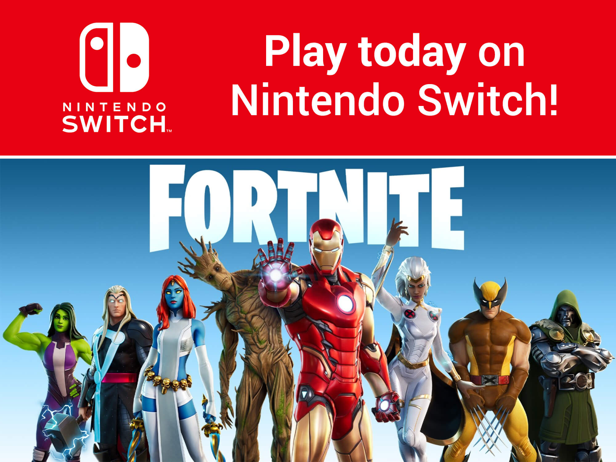 Fortnite on Nintendo Switch consoles