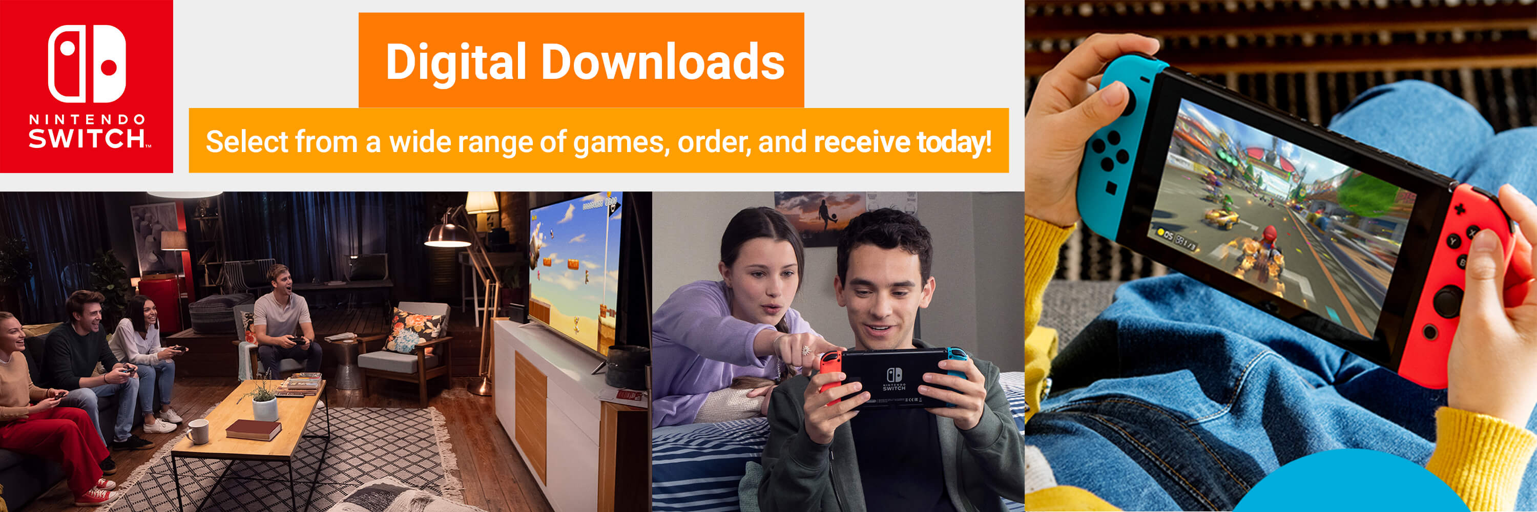 Nintendo Switch Digital Downloads - Select from a wide range of games, order, and receive today!