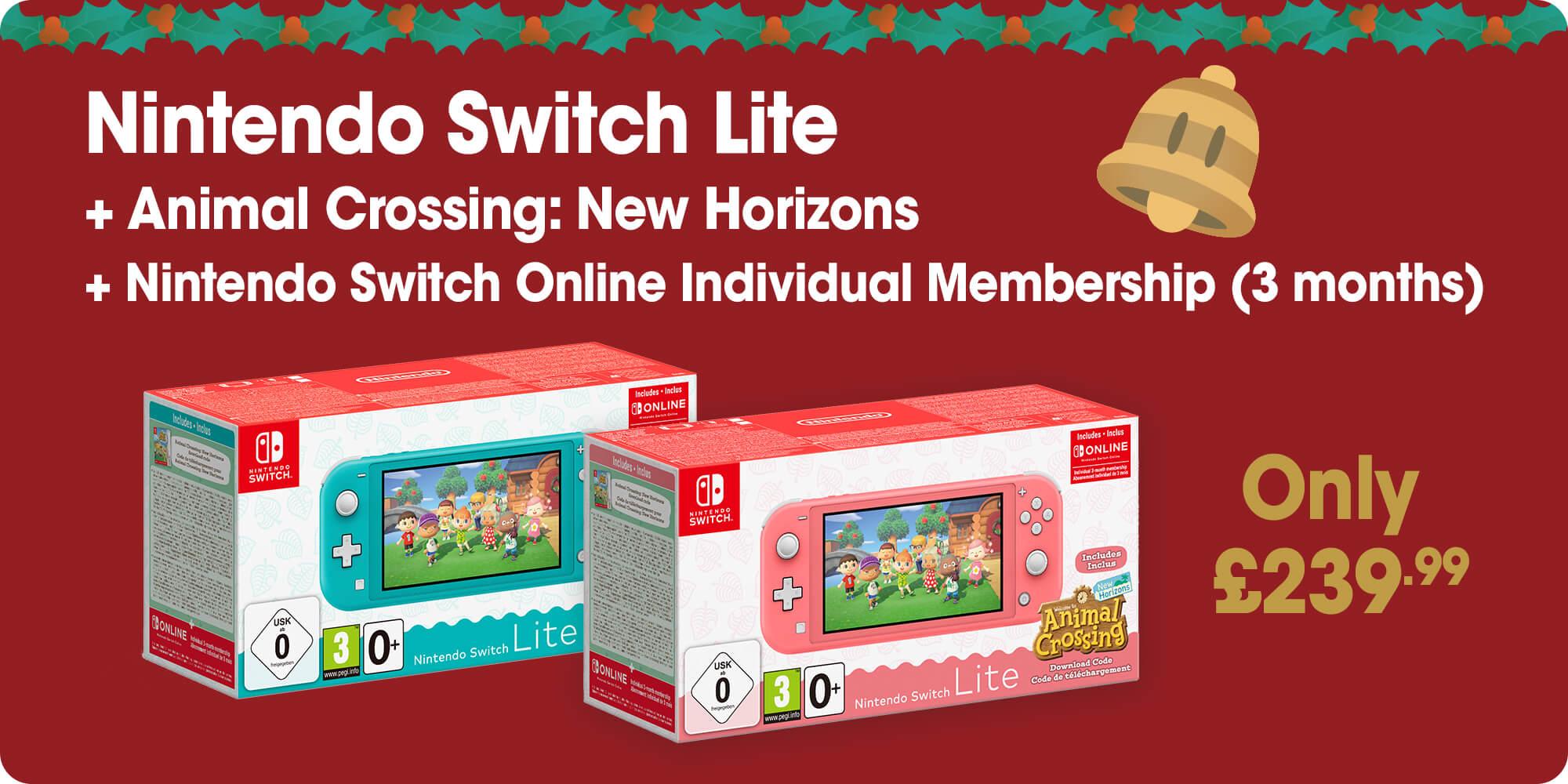 Nintendo Switch Lite console + Animal Crossing: New Horizons + Nintendo Switch Online Individual Membership