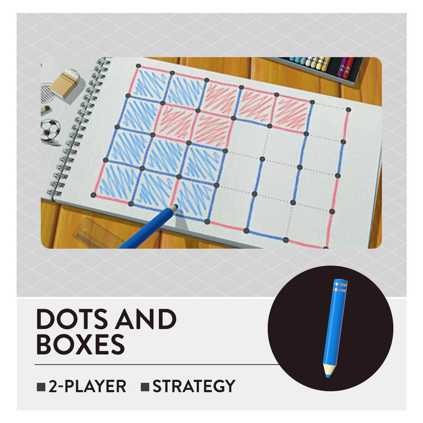 51 Worldwide Games - Dots and Boxes
