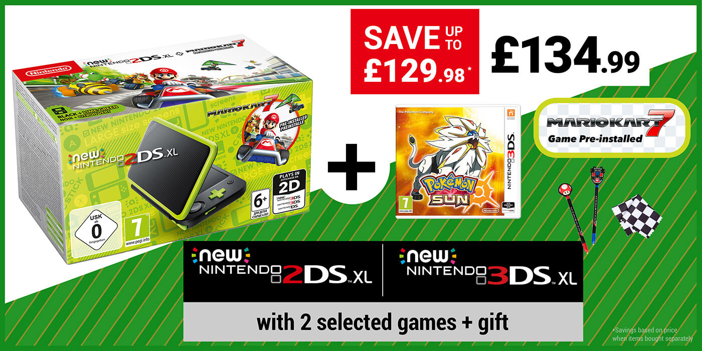 Console + 2 Games + Accessory for £134.99